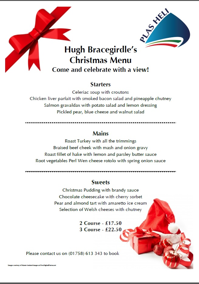 Hugh'S Sample Christmas Menu
