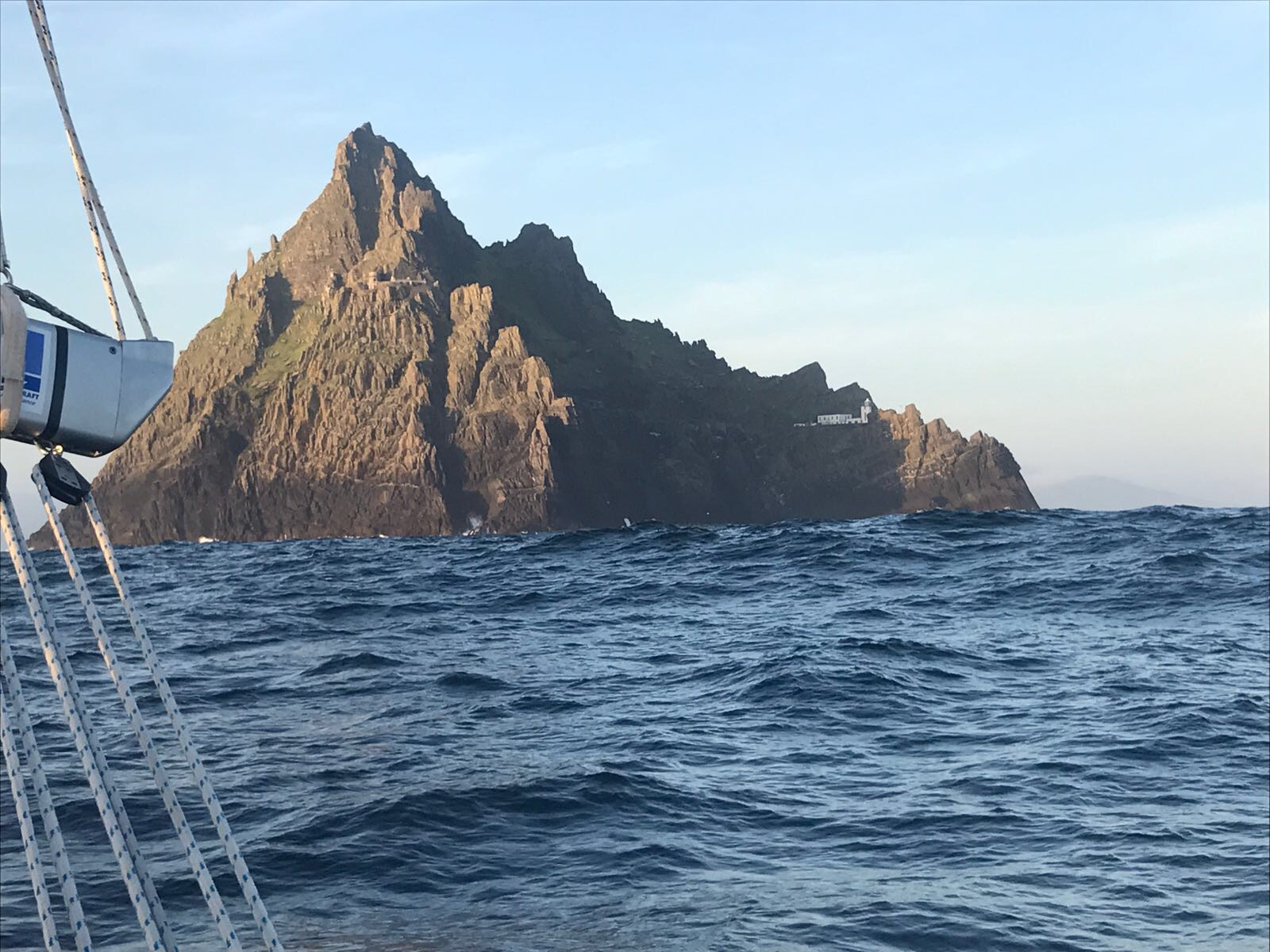 Sun setting at Skellig Michael