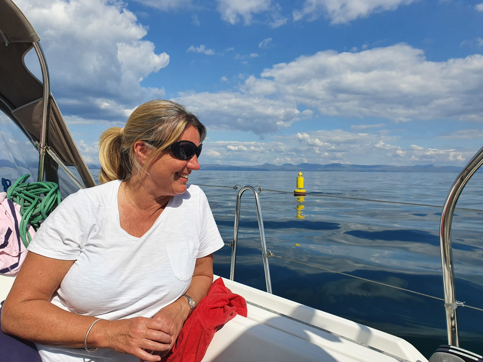 Jane inspecting the Marks